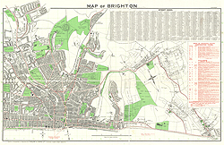 Map of Brighton. Issued by the Brighton Corporation Publicity Committee.